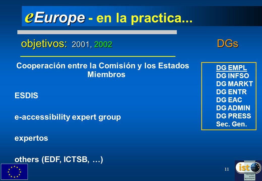 eEurope - en la practica...