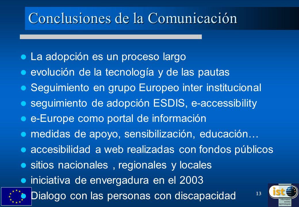 Conclusiones de la Comunicación