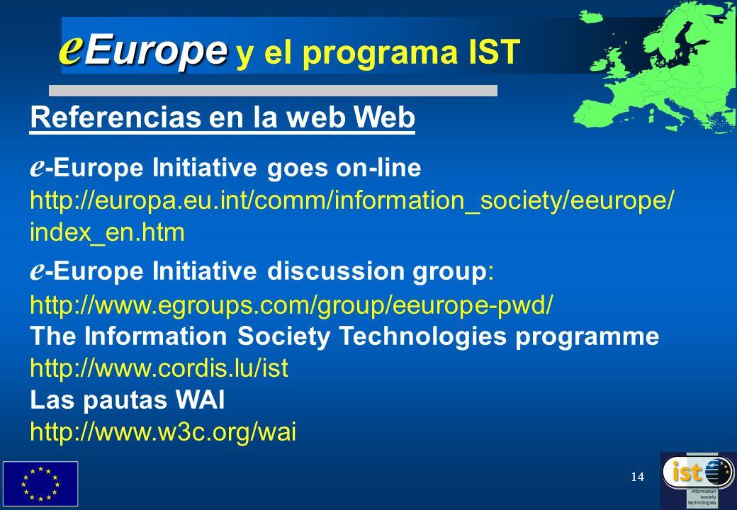 eEurope y el programa IST