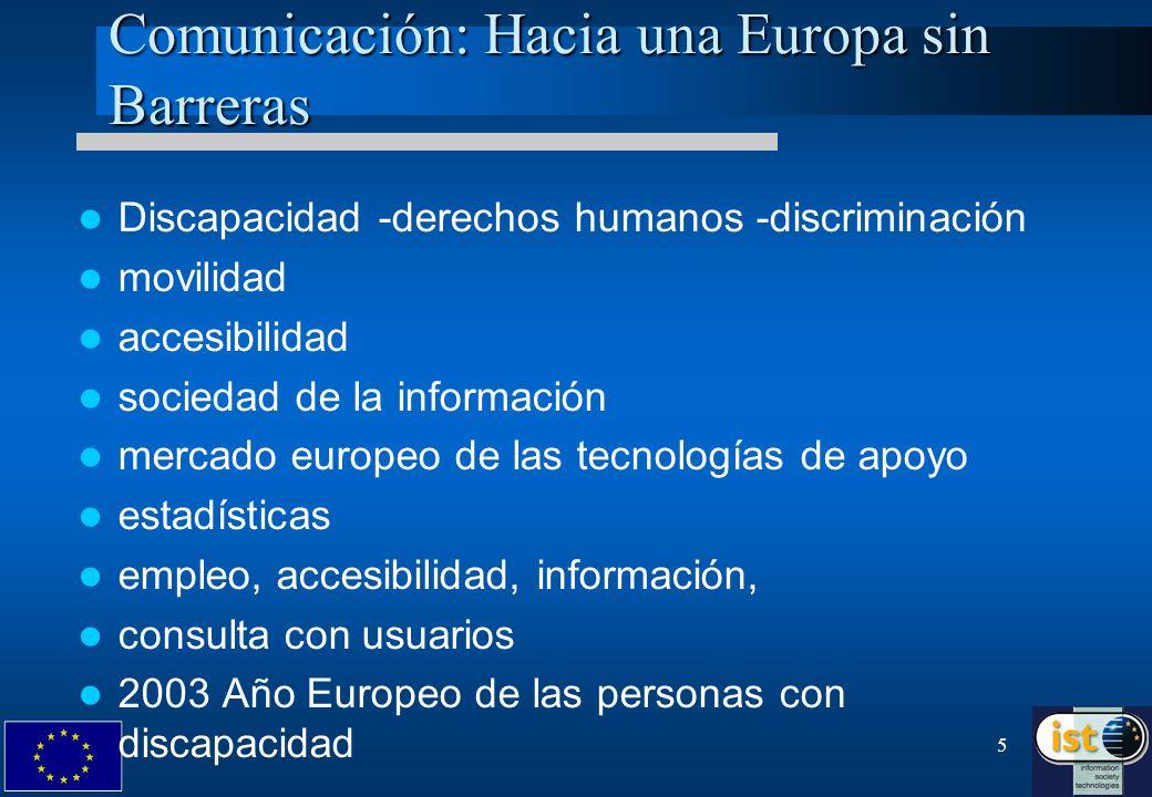 Comunicación: Hacia una Europa sin Barreras
