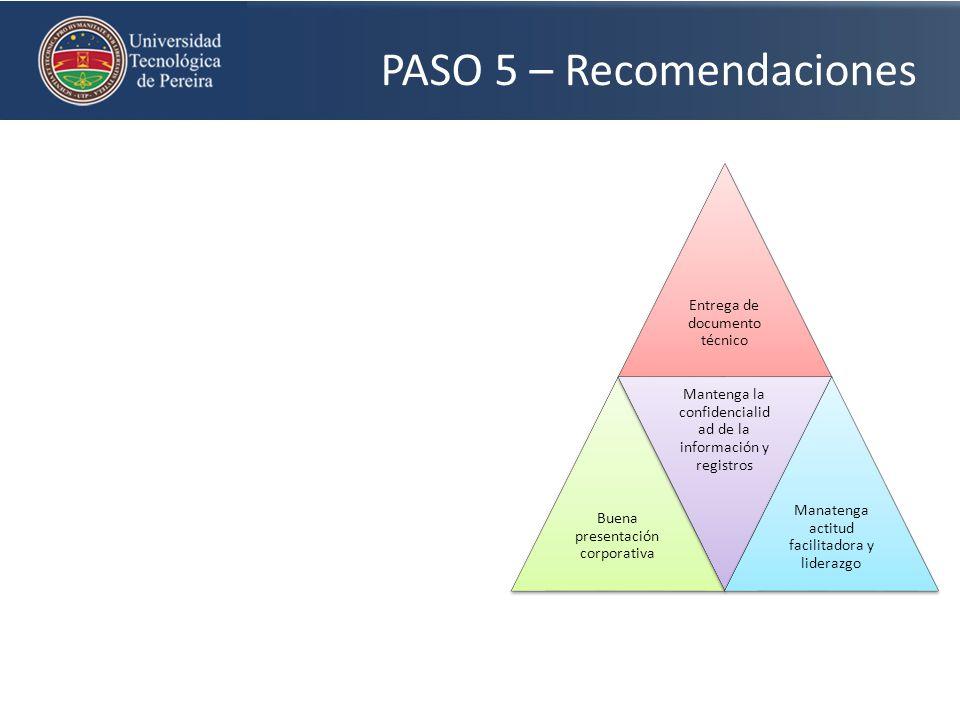 PASO 5 – Recomendaciones