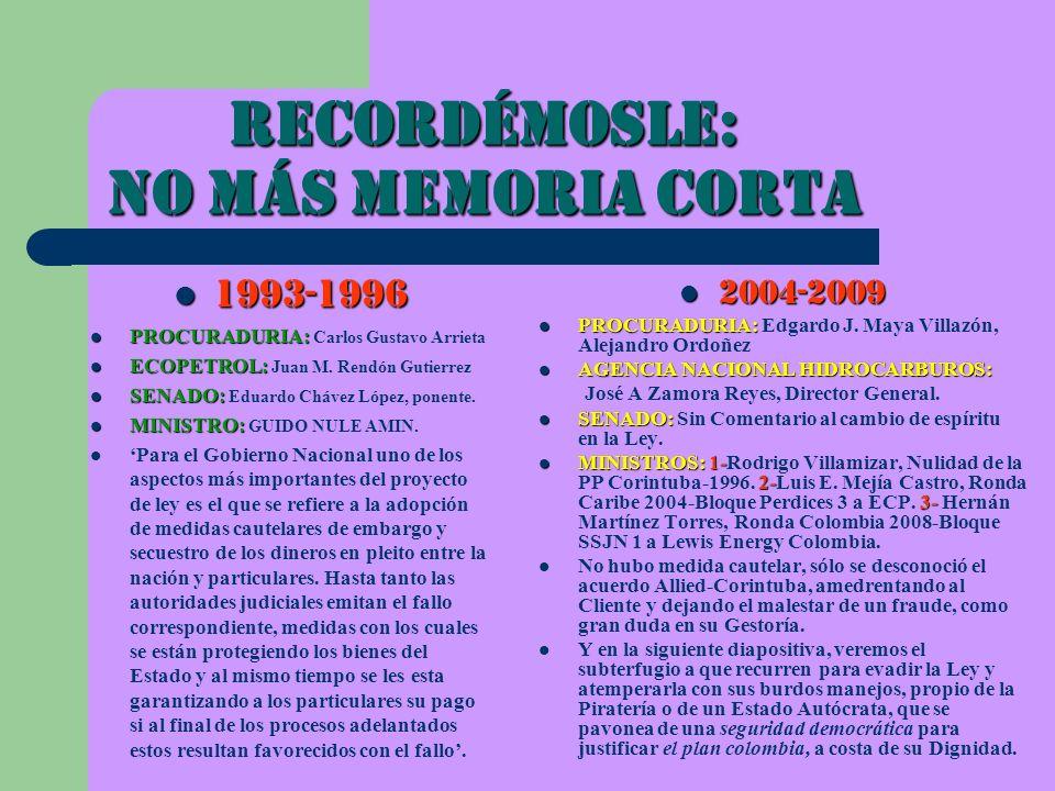 Recordémosle: NO MáS MEMORIA CORTA