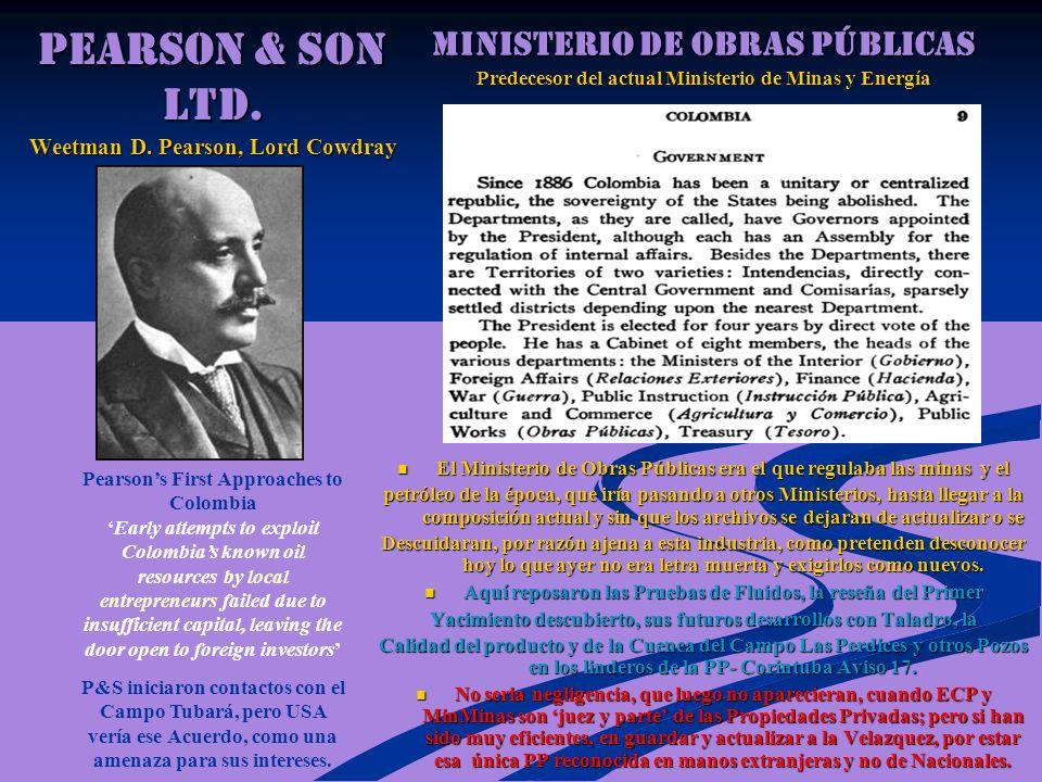 PEARSON & SON Ltd. Weetman D. Pearson, Lord Cowdray