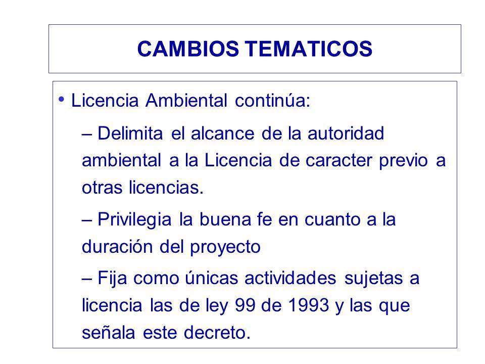 Licencia Ambiental continúa: