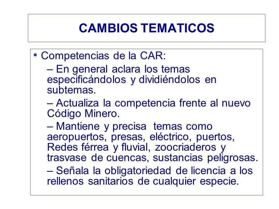 Competencias de la CAR: