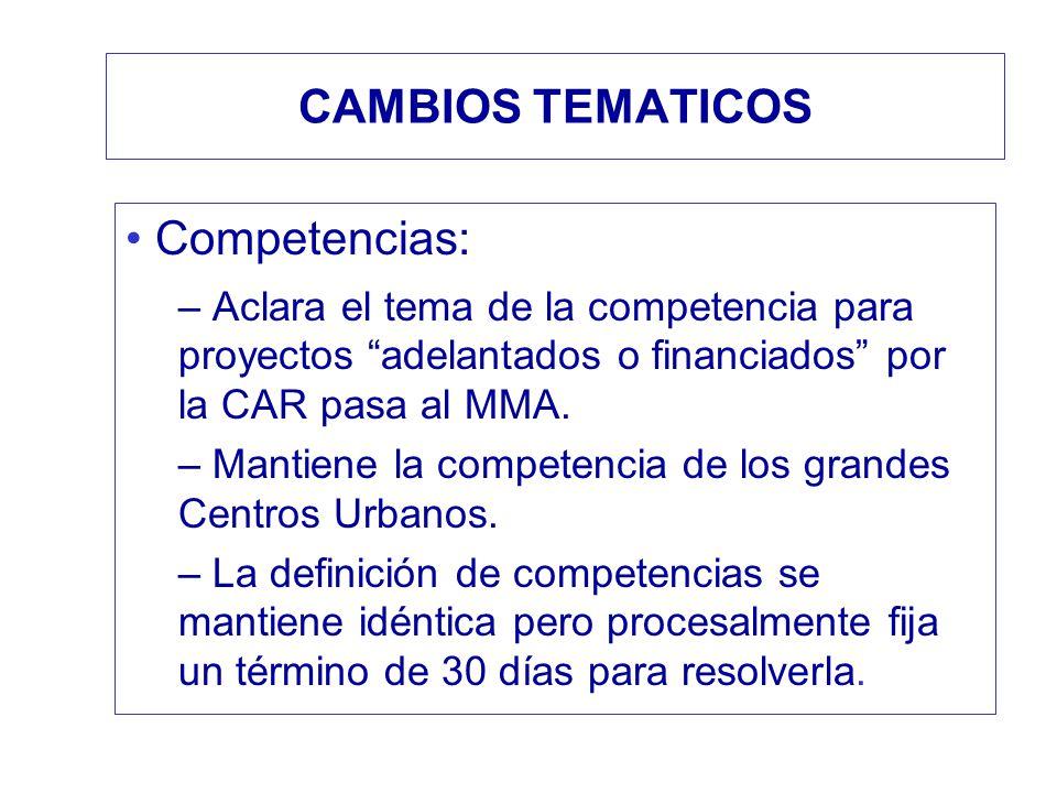 CAMBIOS TEMATICOS Competencias: