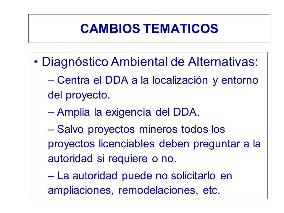 Diagnóstico Ambiental de Alternativas: