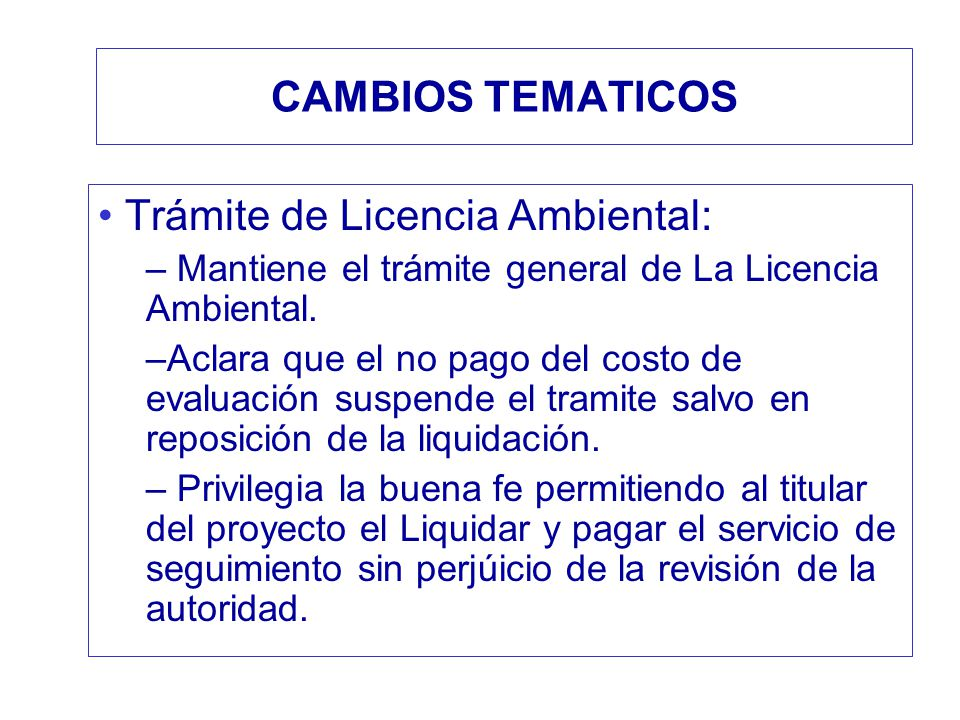 Trámite de Licencia Ambiental:
