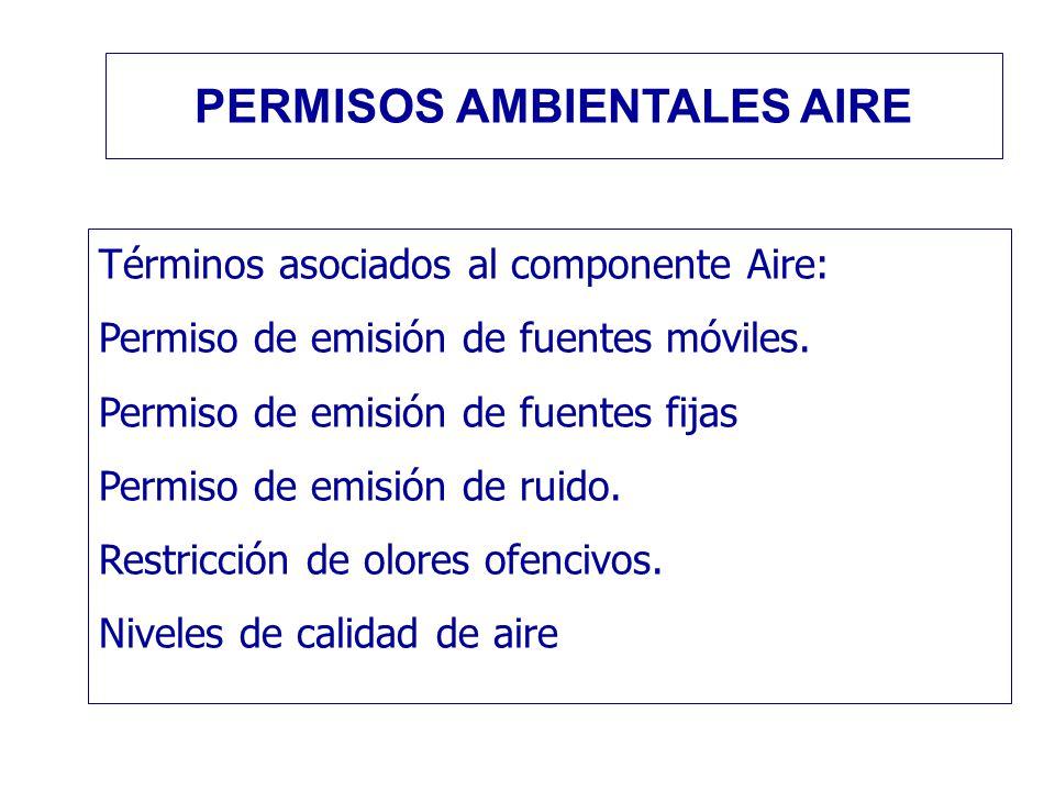 PERMISOS AMBIENTALES AIRE