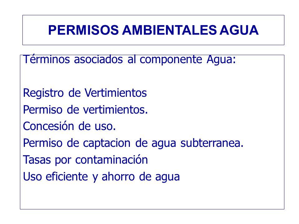 PERMISOS AMBIENTALES AGUA