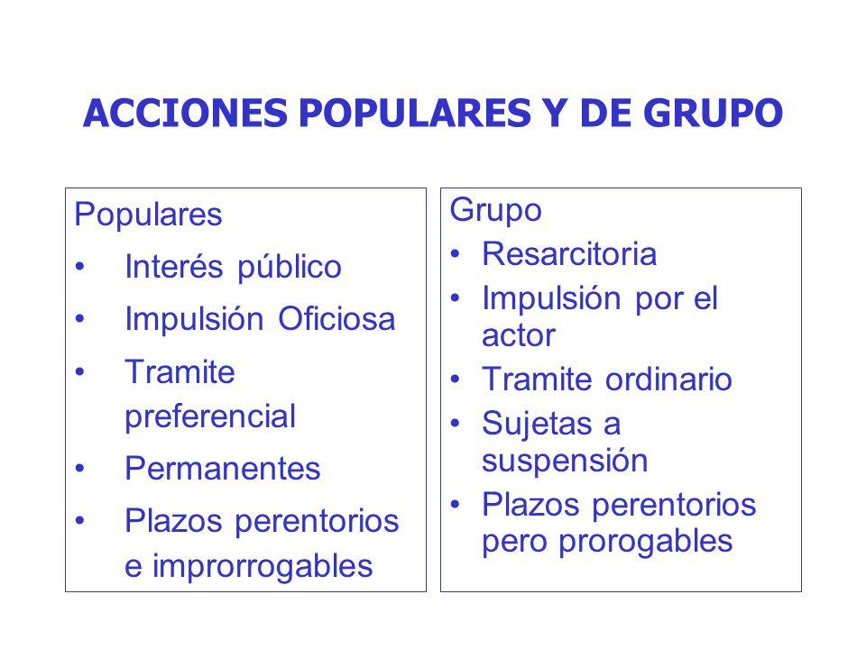 ACCIONES POPULARES Y DE GRUPO