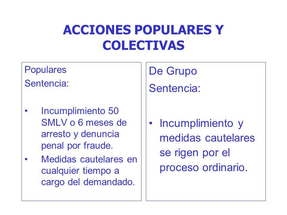 ACCIONES POPULARES Y COLECTIVAS