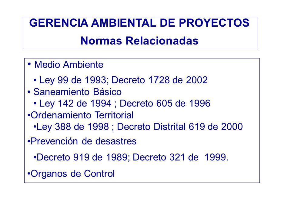 GERENCIA AMBIENTAL DE PROYECTOS