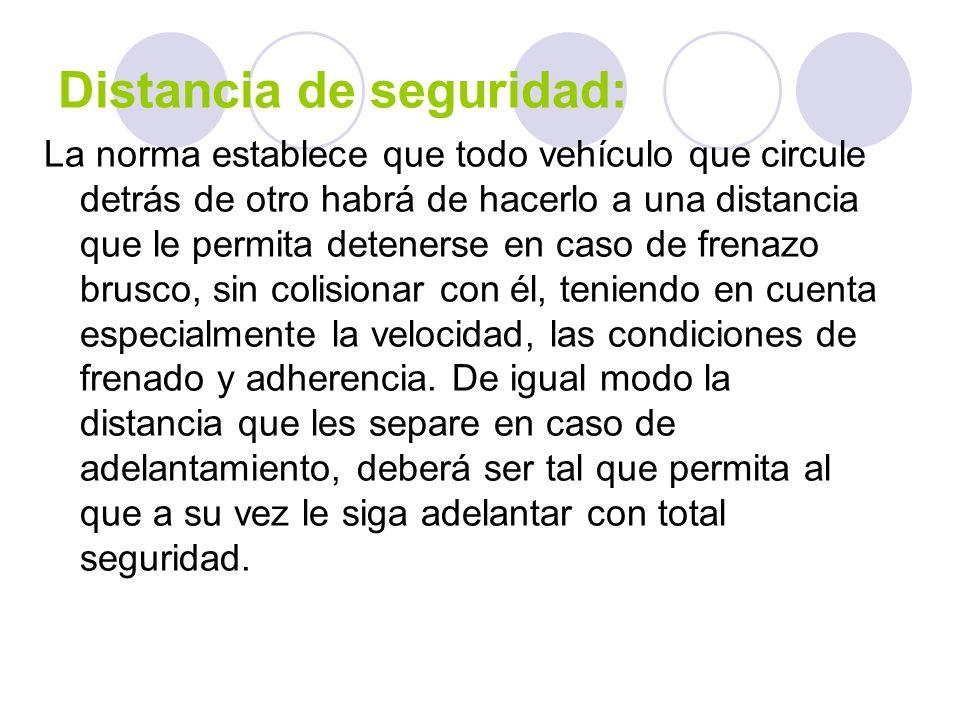 Distancia de seguridad: