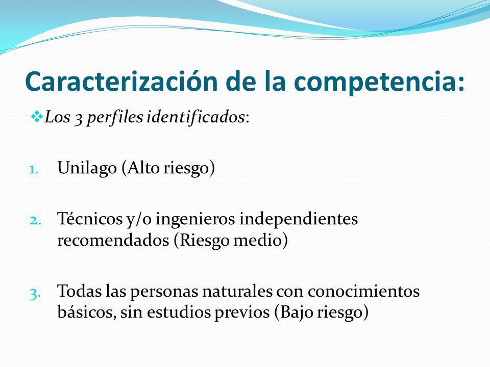 Caracterización de la competencia: