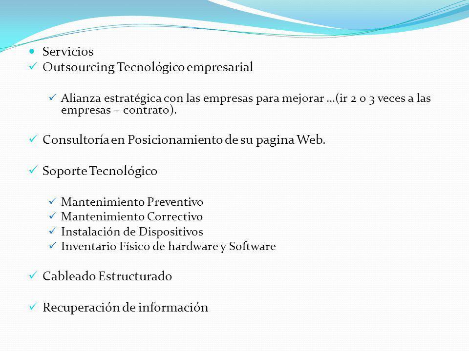 Outsourcing Tecnológico empresarial