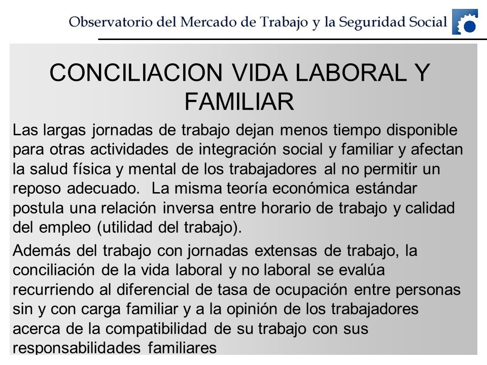 CONCILIACION VIDA LABORAL Y FAMILIAR