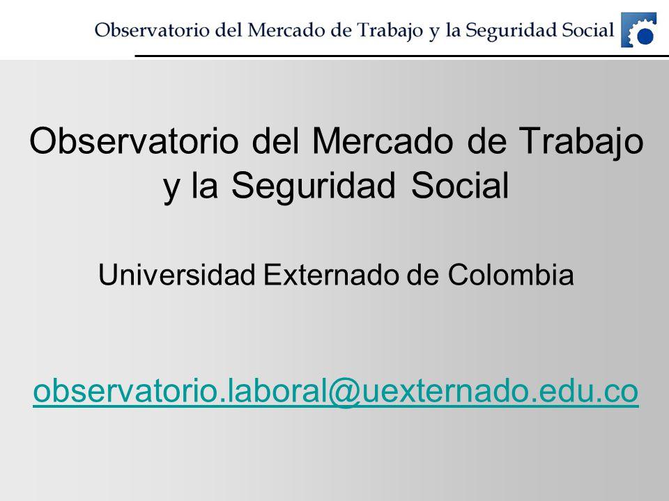 Observatorio del Mercado de Trabajo y la Seguridad Social