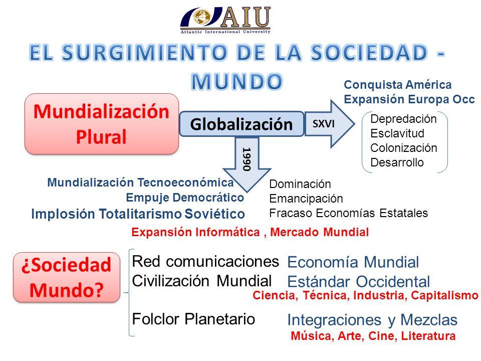 EL SURGIMIENTO DE LA SOCIEDAD - MUNDO