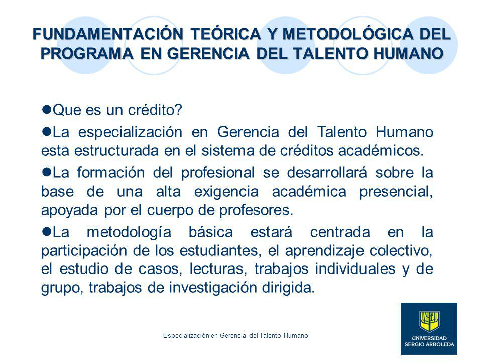 Especialización en Gerencia del Talento Humano