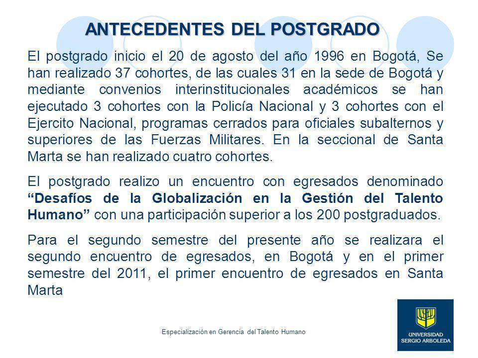 ANTECEDENTES DEL POSTGRADO