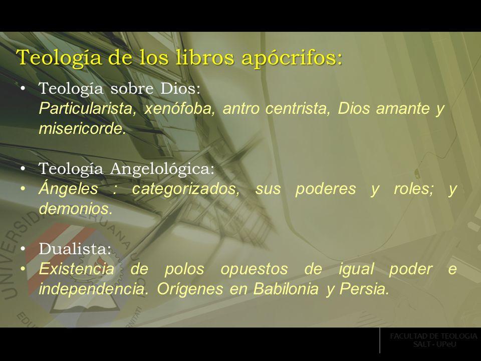 Teología de los libros apócrifos: