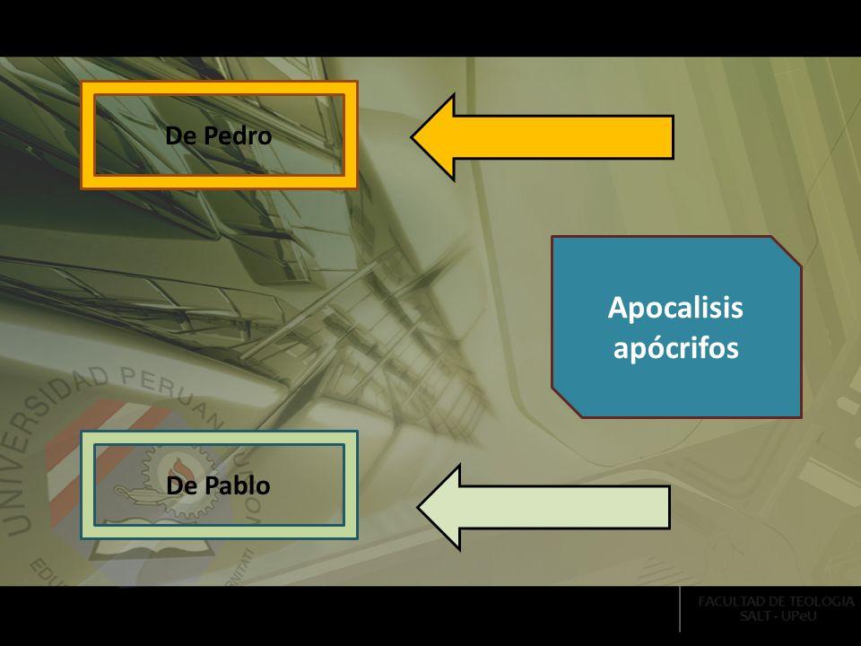 De Pedro Apocalisis apócrifos De Pablo