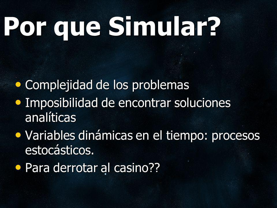Por que Simular Complejidad de los problemas