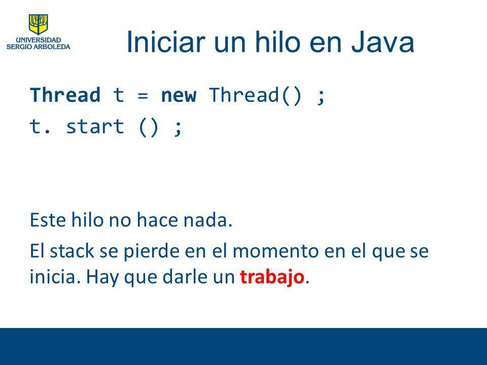 Iniciar un hilo en Java