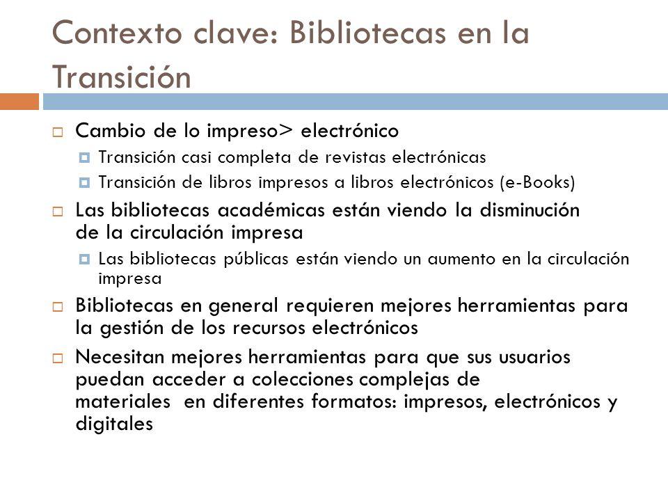 Contexto clave: Bibliotecas en la Transición