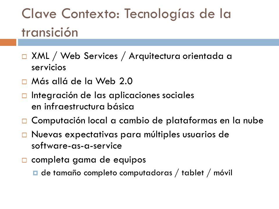 Clave Contexto: Tecnologías de la transición