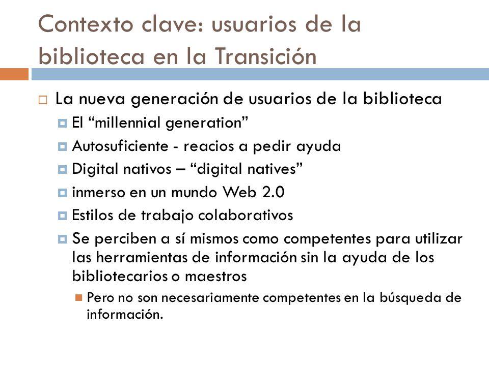 Contexto clave: usuarios de la biblioteca en la Transición