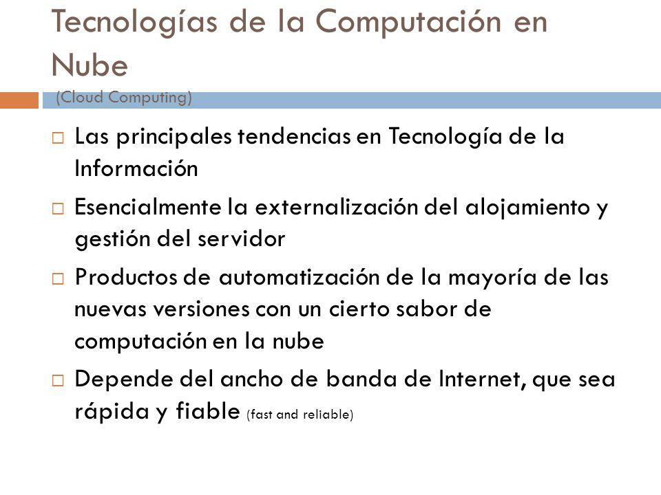 Tecnologías de la Computación en Nube (Cloud Computing)