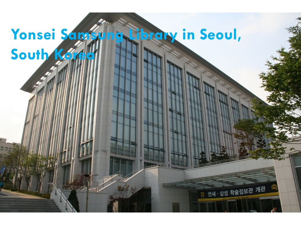 Yonsei Samsung Library in Seoul, South Korea