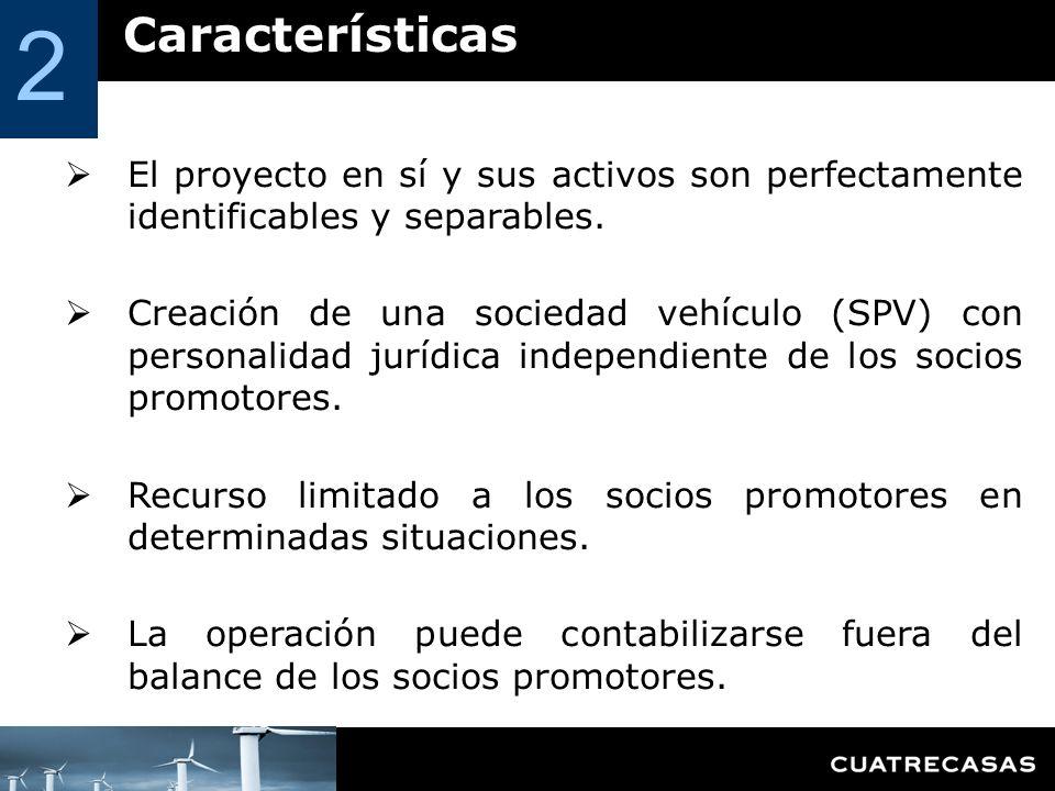 2 Características. El proyecto en sí y sus activos son perfectamente identificables y separables.