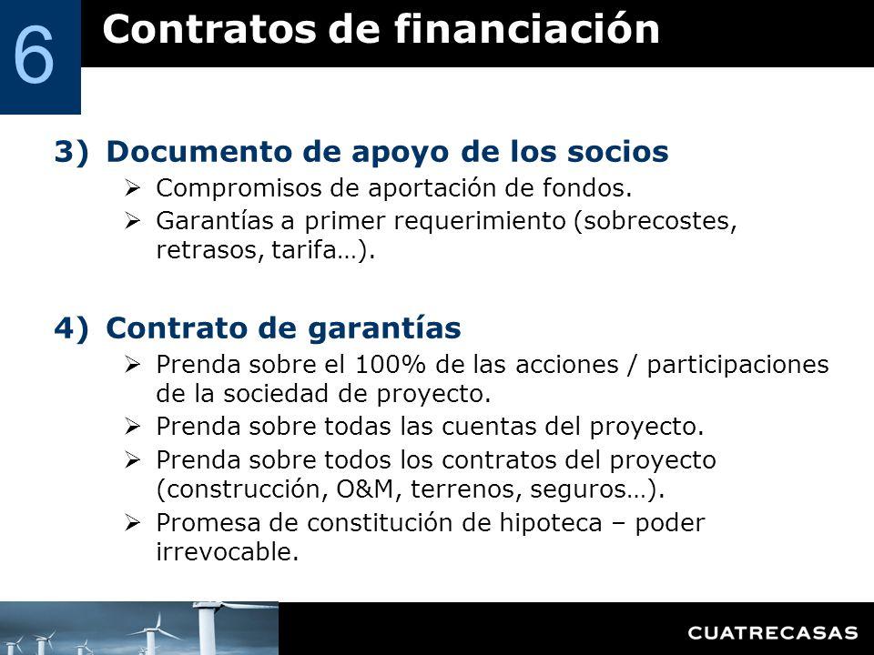 6 Contratos de financiación Documento de apoyo de los socios