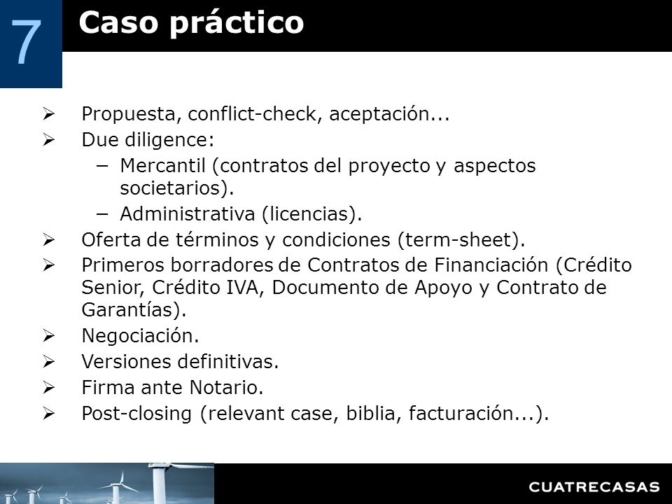 7 Caso práctico Propuesta, conflict-check, aceptación...