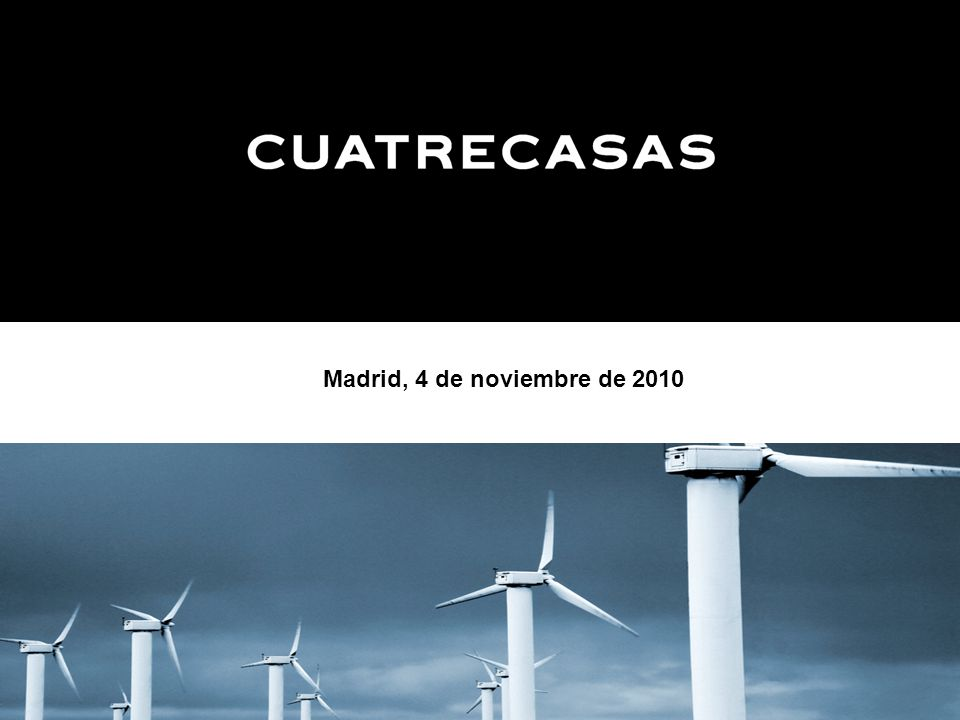 Madrid, 4 de noviembre de 2010