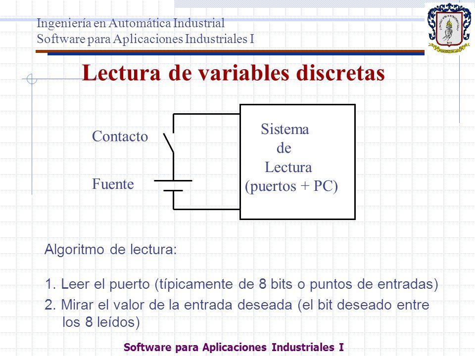 Lectura de variables discretas