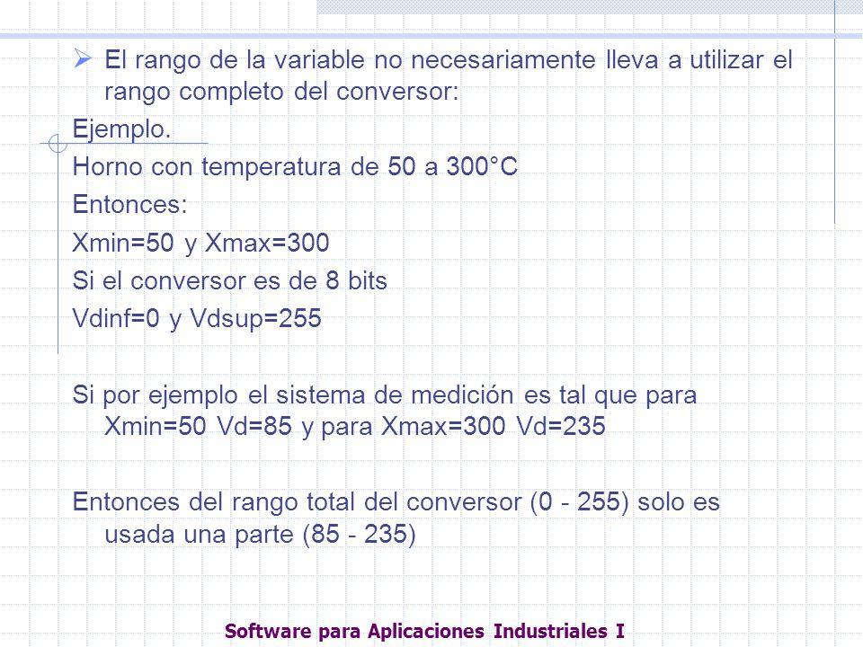 El rango de la variable no necesariamente lleva a utilizar el rango completo del conversor: