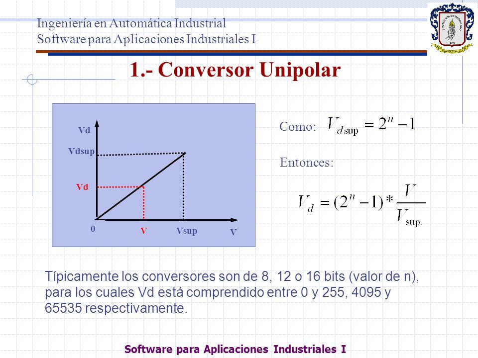 1.- Conversor Unipolar Ingeniería en Automática Industrial