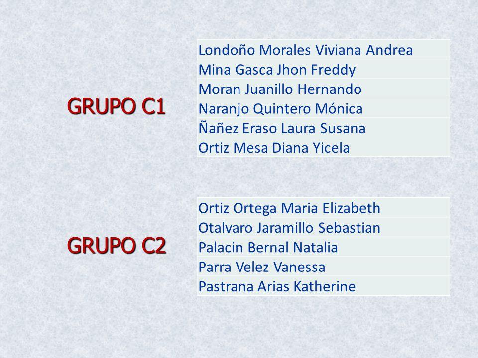GRUPO C1 GRUPO C2 Londoño Morales Viviana Andrea