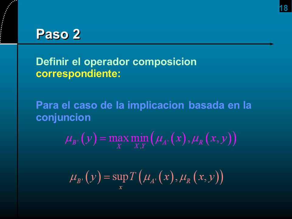 Paso 2 Definir el operador composicion correspondiente: