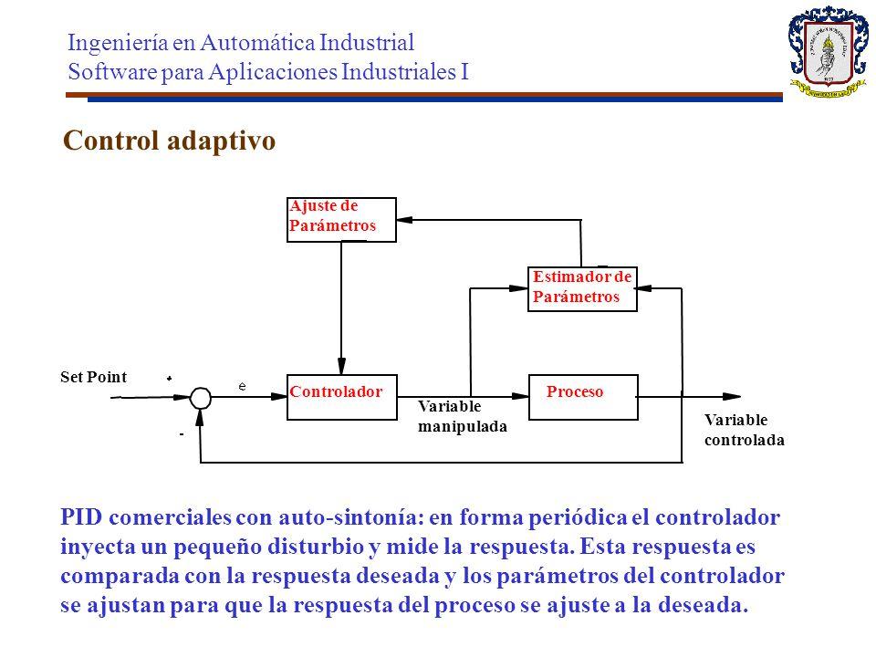 Control adaptivo Ingeniería en Automática Industrial