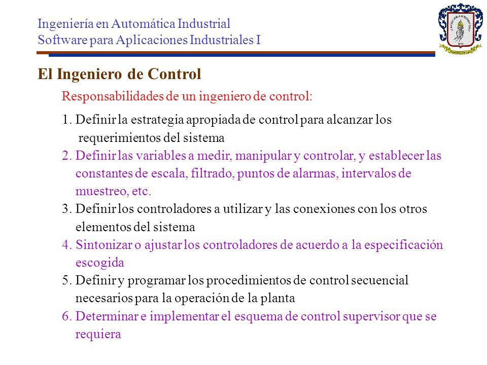 El Ingeniero de Control