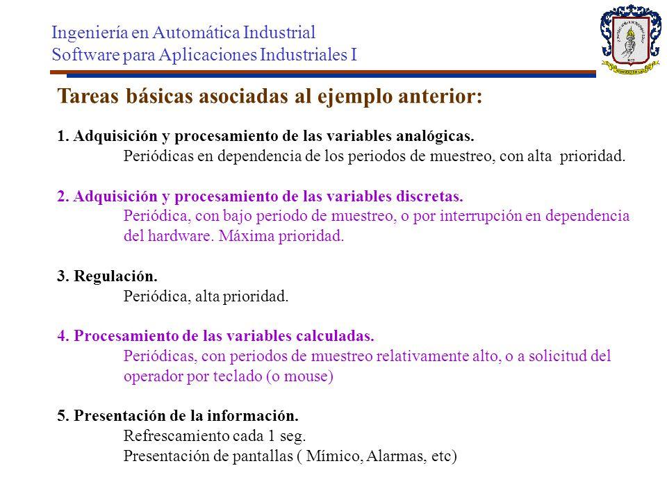 Tareas básicas asociadas al ejemplo anterior: