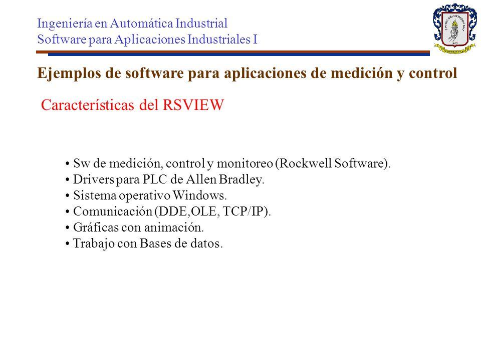 Ejemplos de software para aplicaciones de medición y control