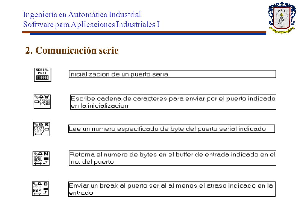 2. Comunicación serie Ingeniería en Automática Industrial