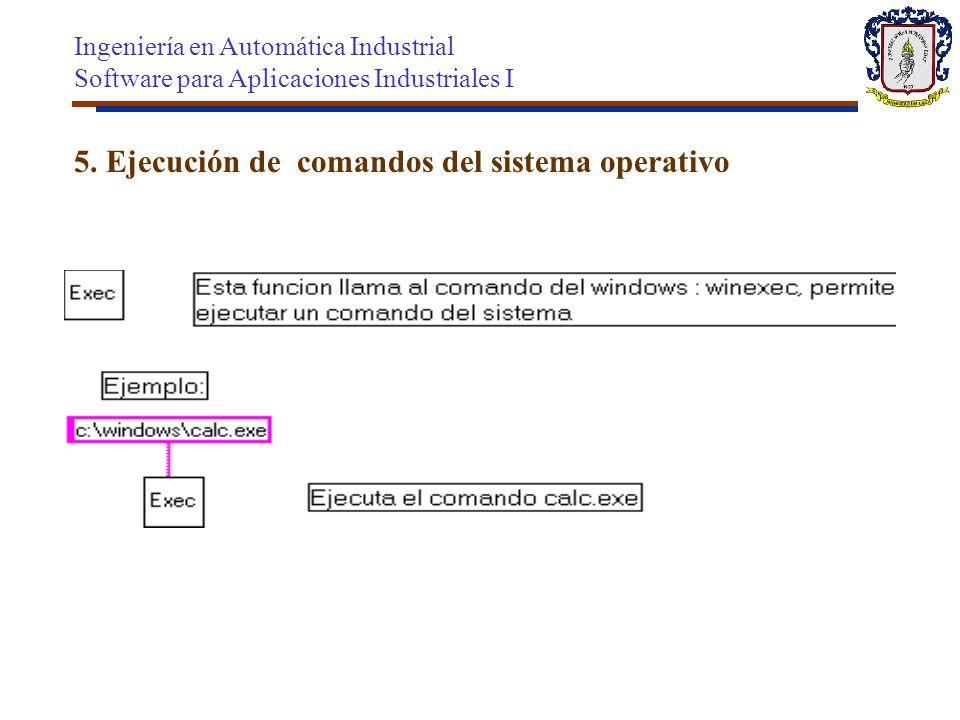 5. Ejecución de comandos del sistema operativo