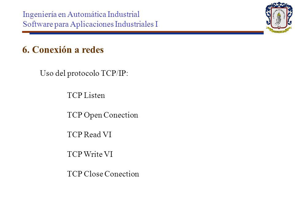 6. Conexión a redes Ingeniería en Automática Industrial